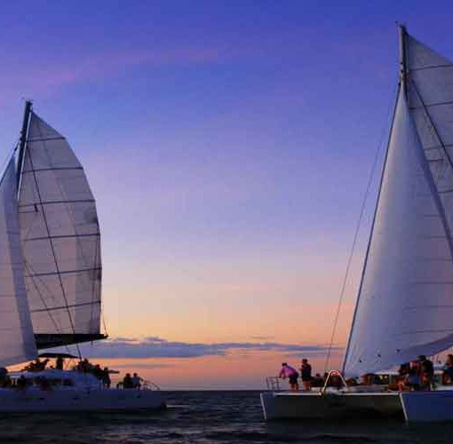 Sunset Sailing Great Barrier Reef