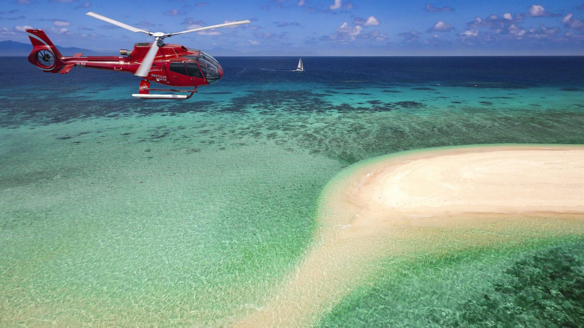 Sailaway Mackay Coral Cay with Nautilus Heli